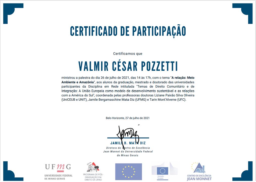Prof. Dr. Valmir Pozzetti - A relação: Meio Ambiente e Amazônia